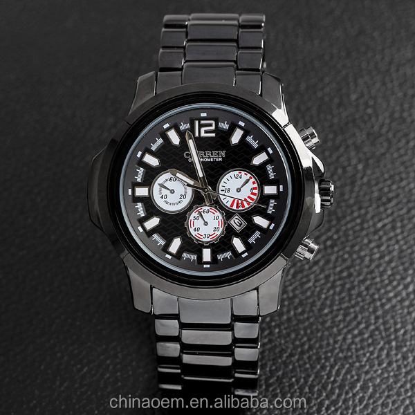 CURREN Men's Quartz Watch Calendar Full Steel Watches Analog Casual Wristwatches Promotion Relojes sport branded watch for men