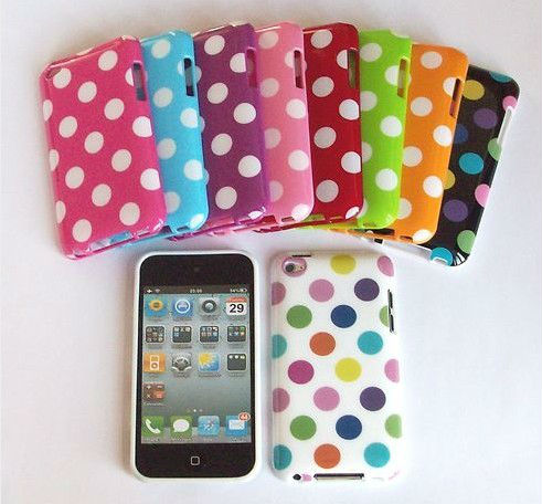NEW POLKA DOT SERIES SOFT GEL CASE COVER SKIN FITS for iPOD TOUCH 4 4G 4TH GEN
