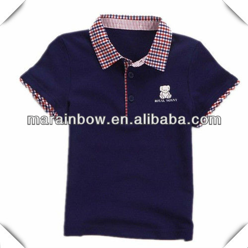wholesale boys' polo shirts , good quality fashion custom design polo shirts for children with embroidery logo