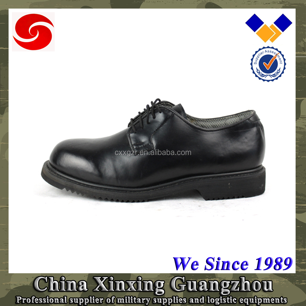 Guangzhou Xinxing Army Custom shoes Black Leather military shoes for men