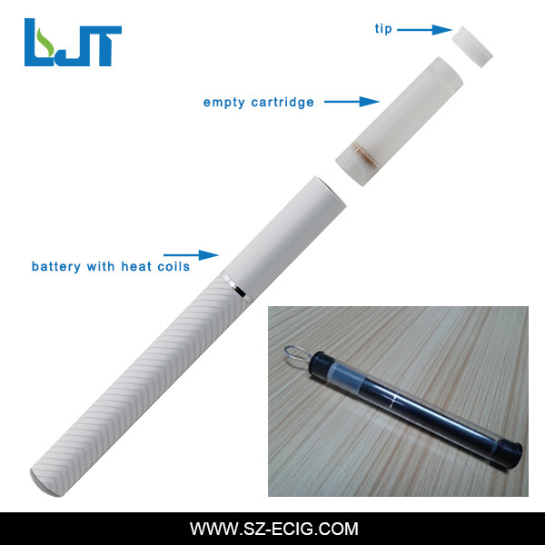 Disposable empty electronic hookah refill e cigarette black/white with empty cartomizer