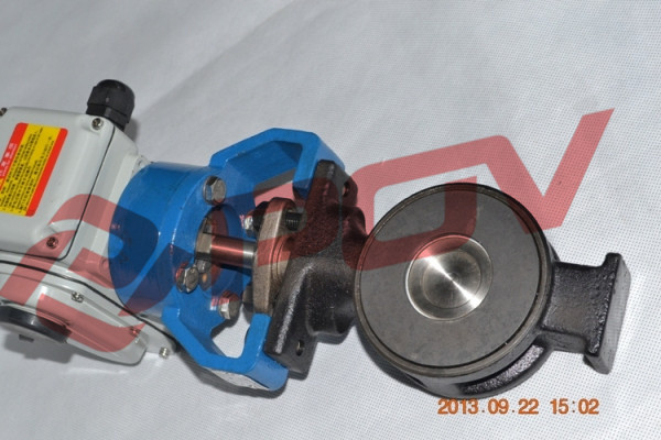Explosion-proof directional butterfly valve weight