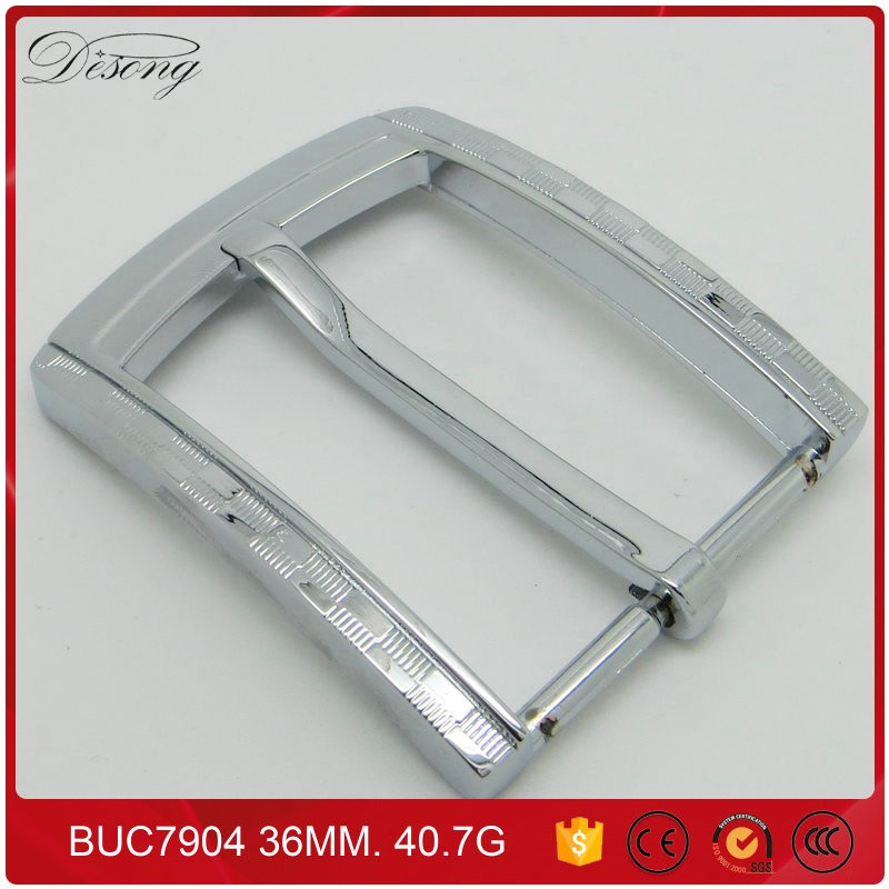 New style chrome color custom-order metal pin buckle for uk