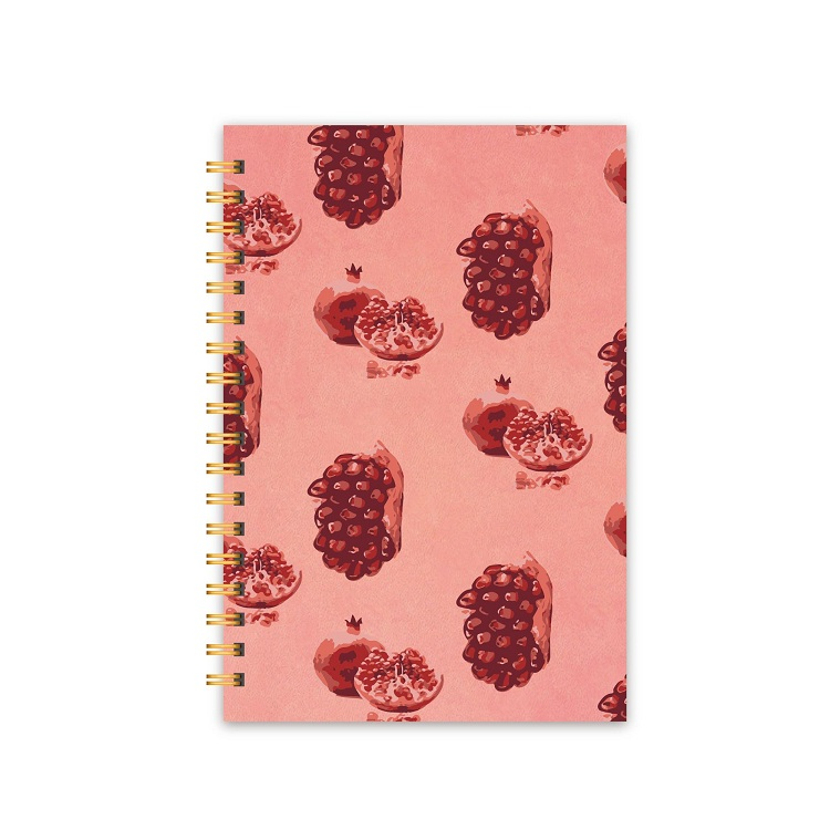 Simple Design Pink Promotional Wholesale Custom Logo Paper Cover Spiral Day Monthly Organizer 2018 Planner