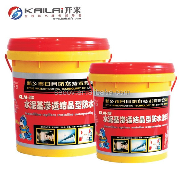 Good quality cement-based permeable crystallization waterproof coating for roof