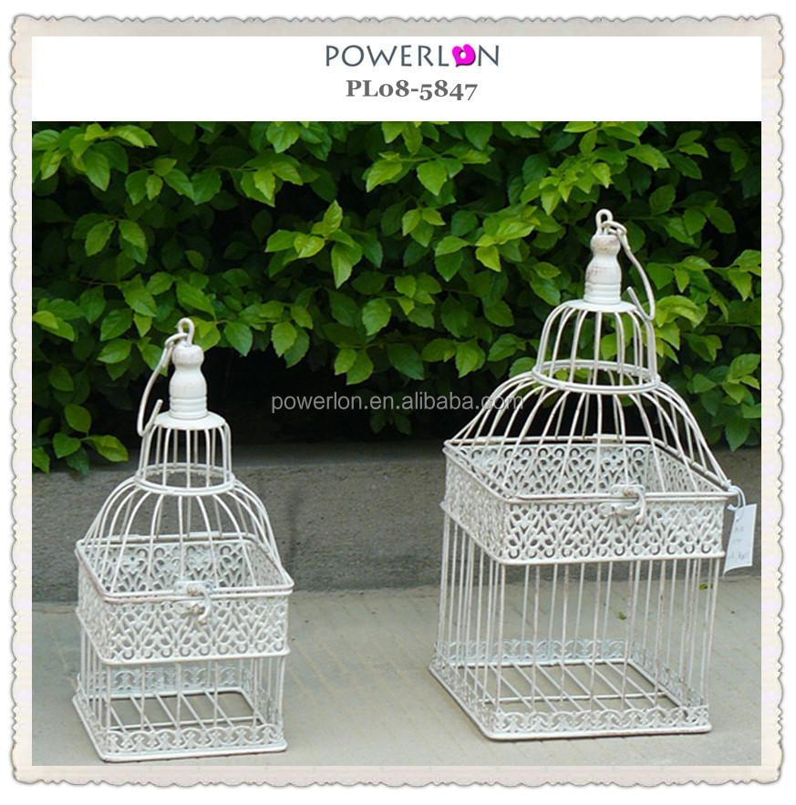 outdoor shabby chic metal square bird cage