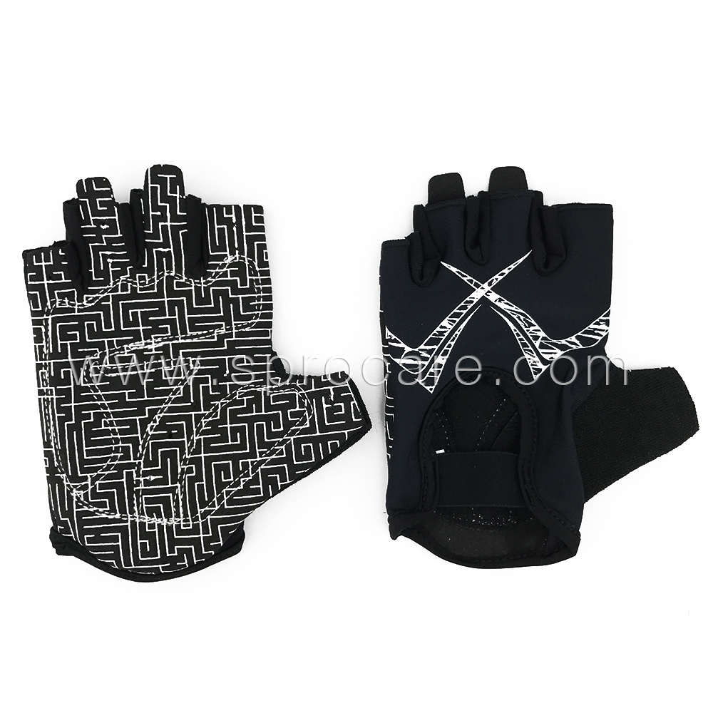 Cycling Gloves Half Finger Gel Used as Exersise Gloves Fingerless Mountain Biking Glove With Padding