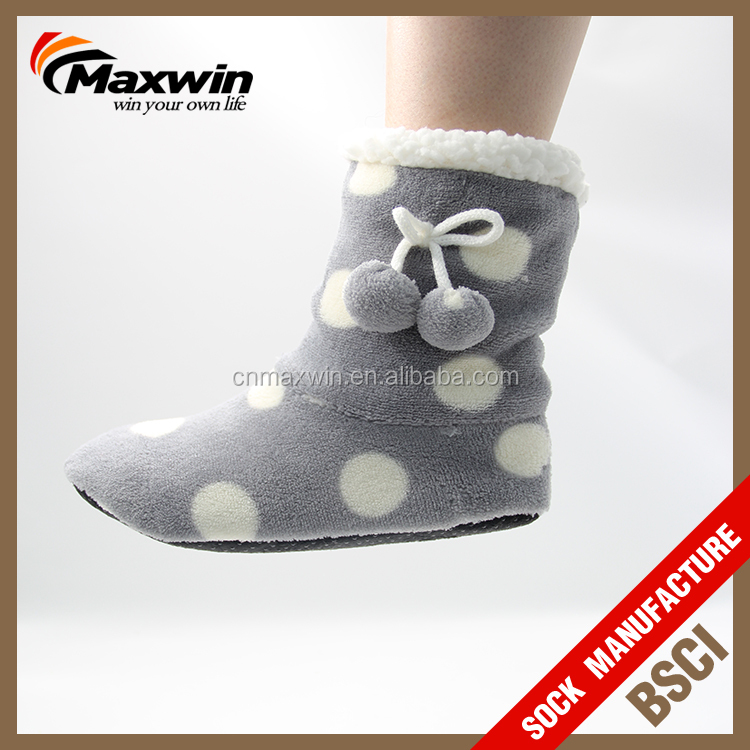 Indoor Non Slip Cozy Slipper Boots For Women