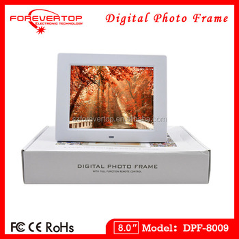 china supplier video photo playback cheap 8 inch digital photo frames