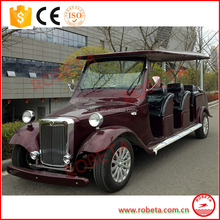 CE Approved 12 Passengers Pure Electric Vintage Classic Car For Sale