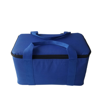 Airline blue aluminum foil extra large insulated cooler bag