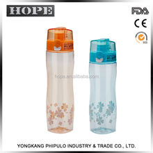 HOPE Popular item customized colors sports water bottle plastic