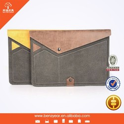 "Genuine Leather and Microfiber combination 9"" to 10"" tablet sleeve case fit for ipad air"