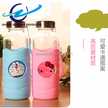 cartoon Food Grade Soft Silicone cup Sleeve