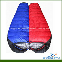 320T nylon for 2 person Double duck down sleeping bag