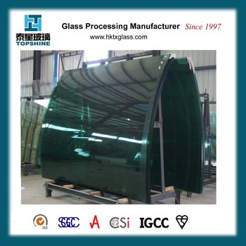 Bended tempered glass with BS6206 and EN12150 certificate