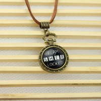 Fashion Movie Jewelry I AM SHER LOCKED Sherlock Glass Dome Pendant Necklace N-56