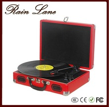 Rain Lane Classic suitcase style record player turntable with vinyl to USB SD