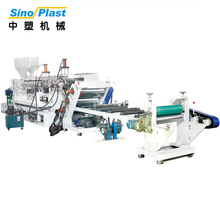 SINOPLAST New High Output 350X850mm Roller Size PP Foaming Sheet Plastic Extruder Machine
