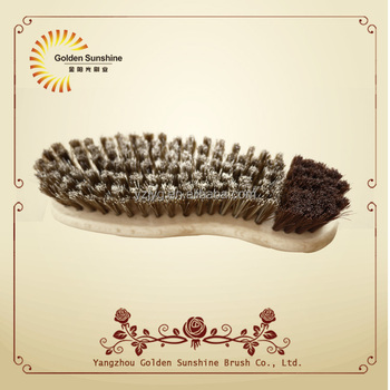 Hot selling new design wooden shoe polish brush for cleaning with FSC certification,cleaning brush manufactory