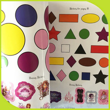New Children Adhesive Sticker Book Printing,children Plane geometry graphic sticker book