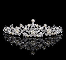 Elegant Wedding Bridal Pearl Tiara <strong>Crown</strong>