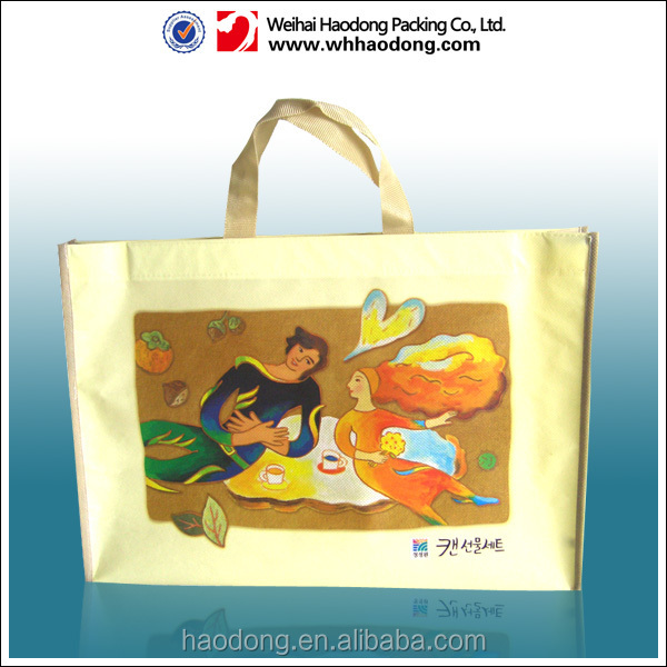 High quality pp non voven shopping bag,non woven fabric bag for clothes