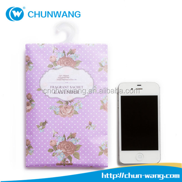 Wholesale Christmas promotional gifts lavender paper fragrance sachet bag for car, office and wardrobe