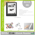 "8"" e ink display ebook reader android 4.0 front light wifi multi-language support"