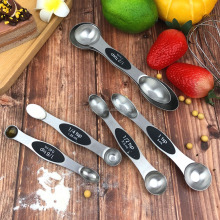 Wholesale Amazon best seller set of 6 stainless steel magnetic measuring spoon