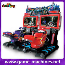 Qingfeng coin operated car racing game machine moto racing