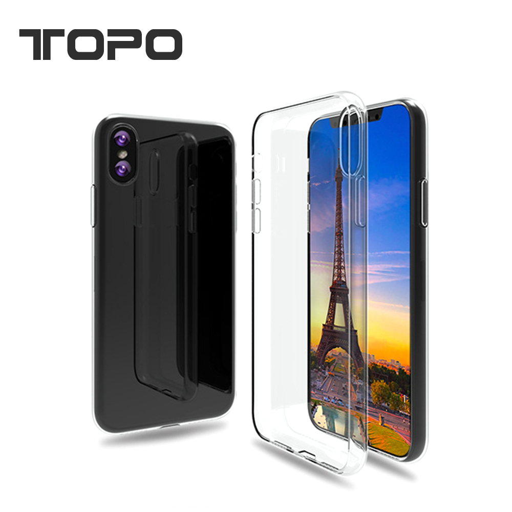 Silicon Shockproof Transparent thin soft tpu back phone case for iphone 8 X
