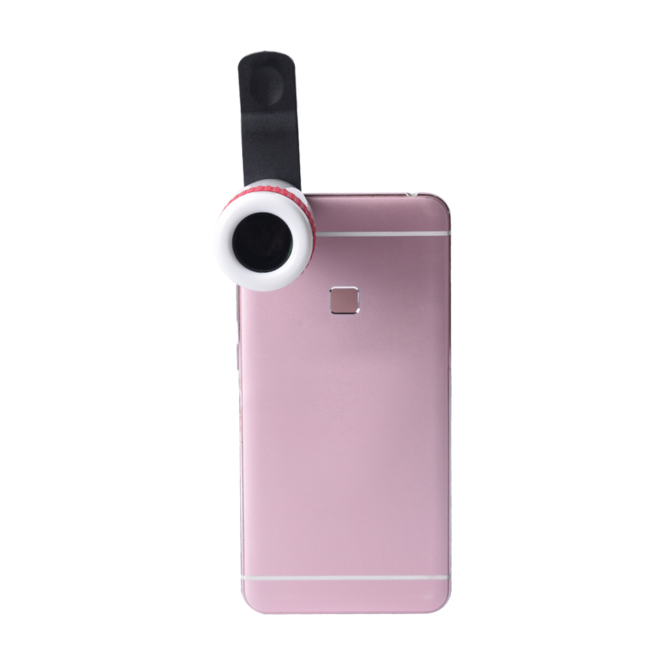 Wholesale universal clip mobile phone 7X zoom telescope lens