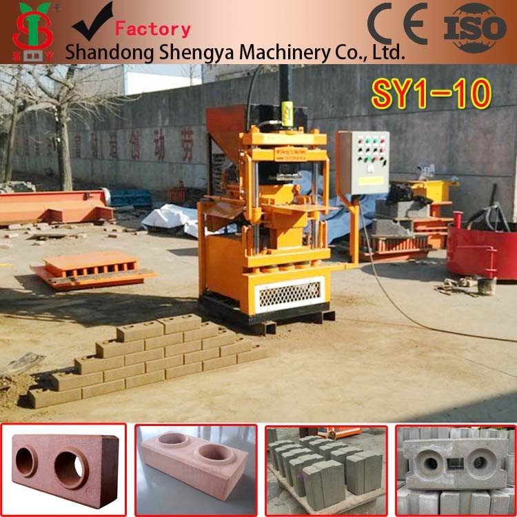 2015 New Model fully automatic clay bricks making machine sy-10 compressed earth block