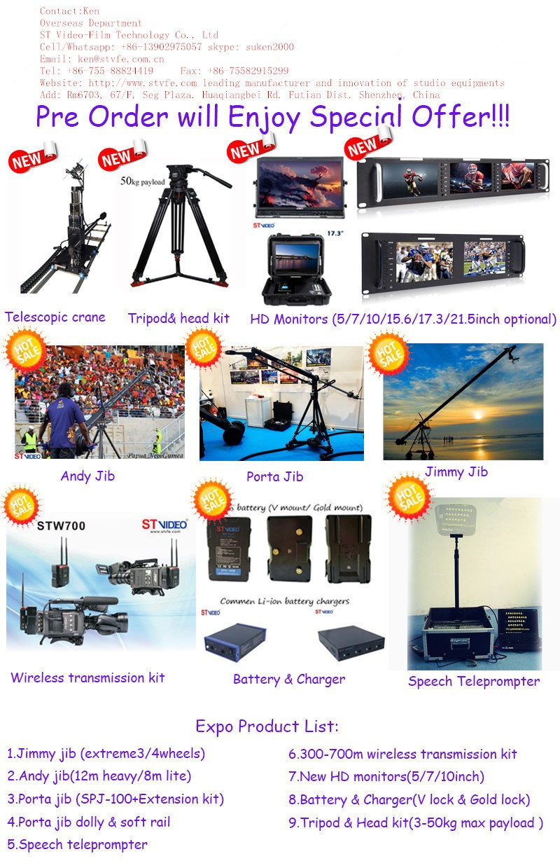 PROFESSIONAL CAMERA TRIPOD and REMOTE HEAD, 3 to 50kgs playload, fluid head K18/2AG with 2 stage