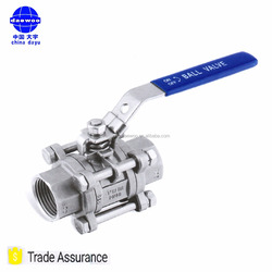 3 PC Easy Release DIN Length Ball Valve 1000 PSI/PN63 Valvula