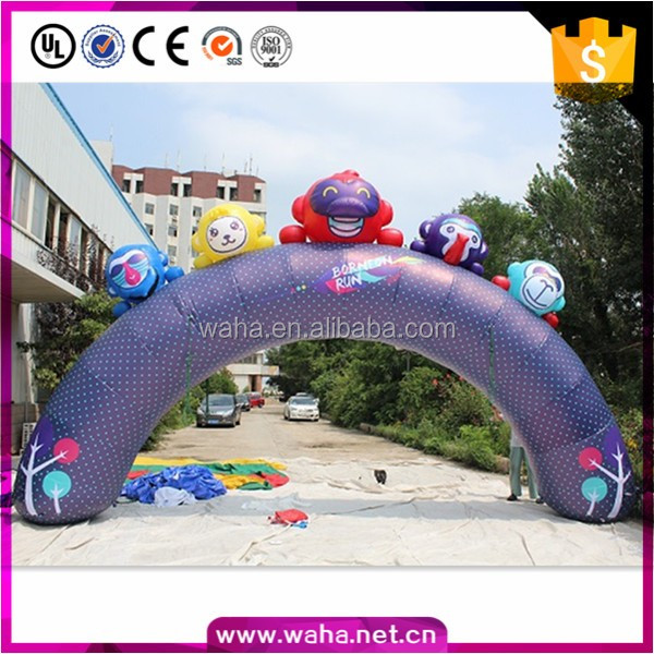 Christmas stage wedding decorations inflatable monkey arch for sale