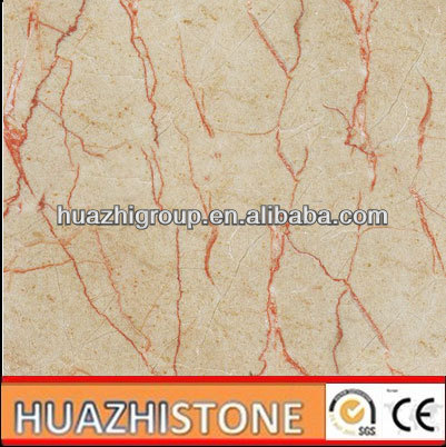 whole sell natural cream red line rosalia marble
