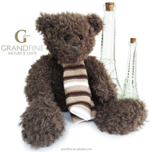 Luxury Factory dolls long plush scarf teddy bear for kids toys gift pass EN71 test report and CE mark and Reach docs