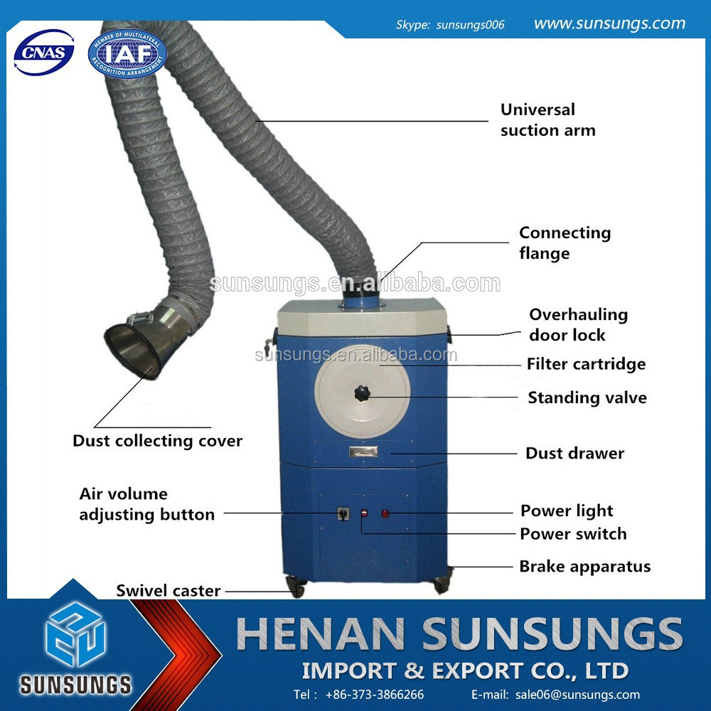 Laser cutting machine small dust collector/mini dust extractor/welding fume extractor
