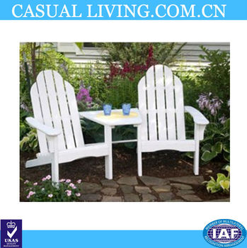 Folding White Wood Adirondack Chair