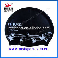National silicone material swimming caps wholesale