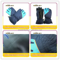 Polyester custom made ski glove for snowboard for snowmobile