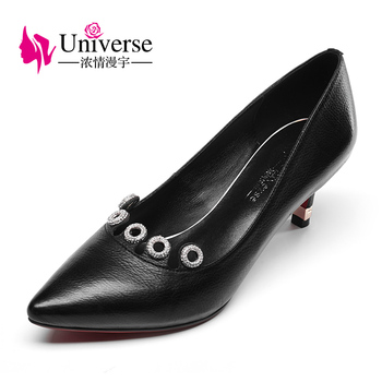 G024 new fashion autumn pointed toe shoes crystal high heel ladies pumps