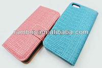 Lizard Skin Pattern Soft PU Leather Wallet Case Back Cover Case for iPhone 5 5G