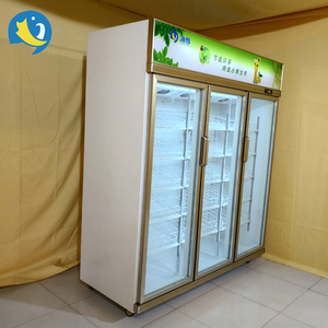 Top quality wholesale vertical single temperature beer fridge/glass door display freezer