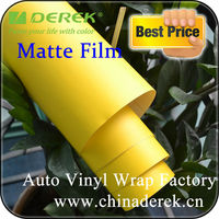 Auto Body Wrapping Vinyl Film/Yellow Car Wrap Vinyl Film