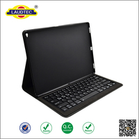 2016 lichee pattren leather bluthtooth speaker tablet case Wireless Keyboard CaseTablet Cover For iPad pro 12.9-----laudtec