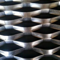 Rhombus raised perforated expanded sheets metal mesh
