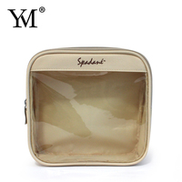 Fashion popular travel mesh nylon 230 Twill small women zipper cosmetic make up pouch bag handbag